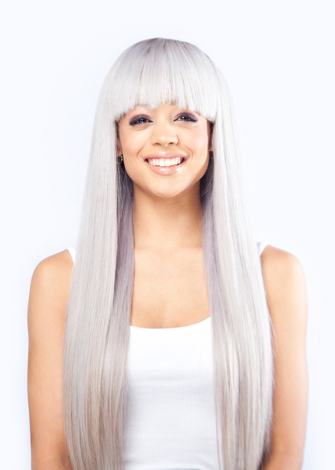 Red Carpet Luxury Hair – Silver Straight